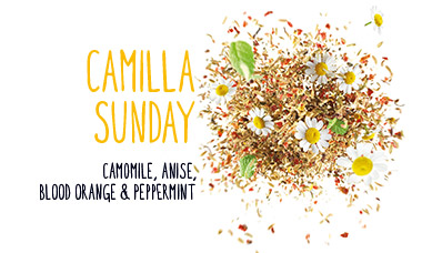 slow tea blend camilla sunday camomile anise blood orange peppermint