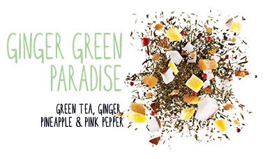 green tea ginger pineapple pink pepper